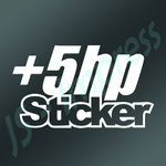 5 hp Sticker